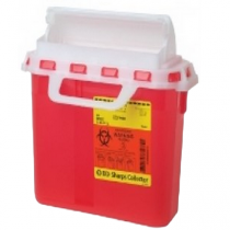 3 Gallon Red BD Sharps Container with Counterbalanced Door 305436
