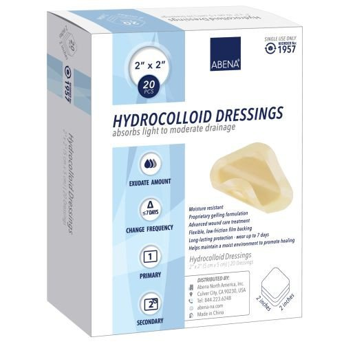 Hydrocolloid Dressings with Beveled Edge - Sterile