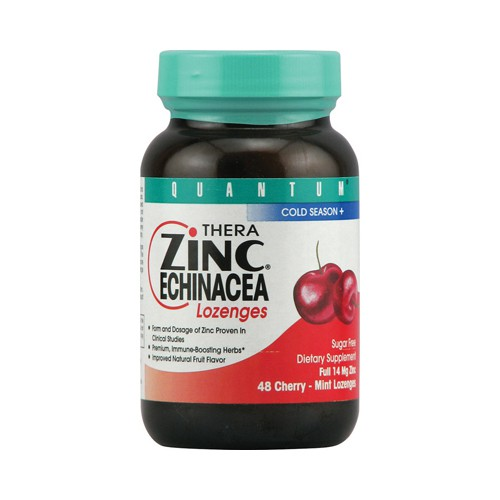 Quantum Thera Zinc Echinacea Lozenges Cherry Mint
