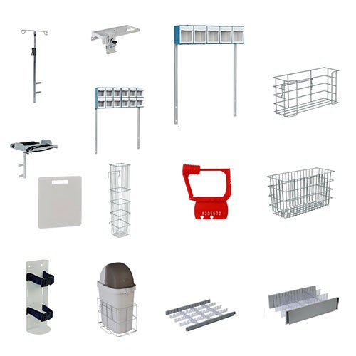 RESCUE and WHISPER Medical Cart Accessories
