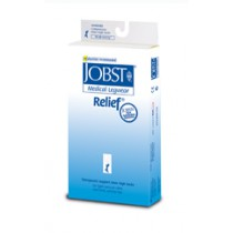 Jobst Relief Thigh High Compression Stockings with Silicone Top Band OPEN TOE 15-20 mmHg