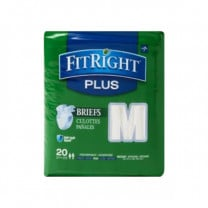 Medline FitRight Plus Adult Incontinence Briefs with Tabs, Heavy Absorbency