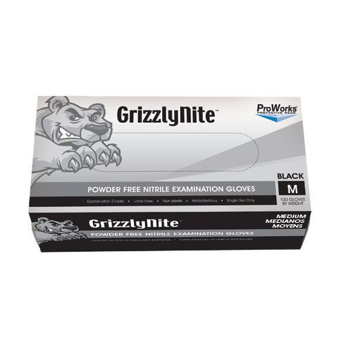 ProWorks Black Nitrile Powder Free Gloves