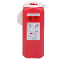 2 Quart Red Sharps Container with Snap Tite Lid SL200