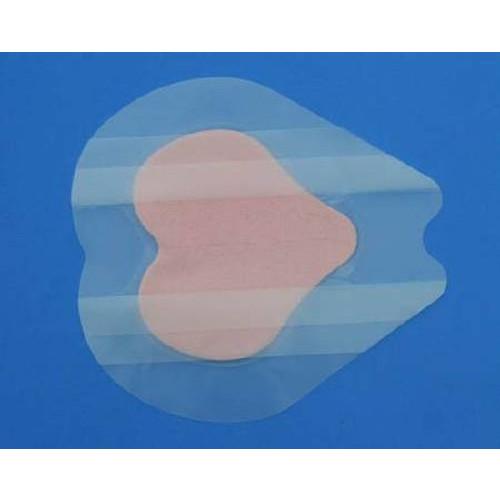 PolyMem Shapes 1709   Silver Sacral Dressing - 7.2 x 7.8 Inch Sacral Adhesive, 4-1/2 x 4.7 Inch Pad by Ferris