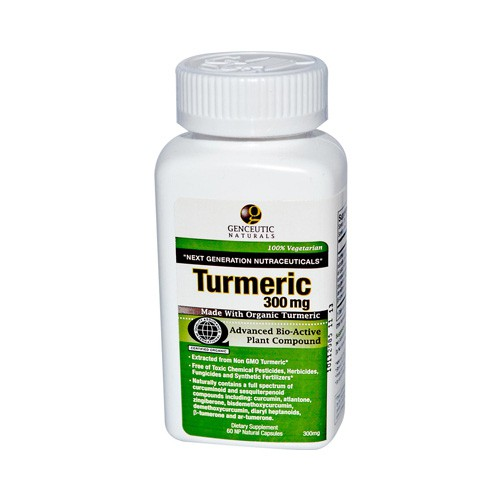 Genceutic Naturals Organic Turmeric 300 mg Dietary Supplement