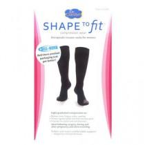 Black Nylon Therapeutic Trouser Socks 15-20 mmHg