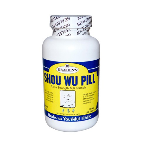 Dr Shens Shou Wu Youthful Hair Pill 700 mg Dietary Supplement