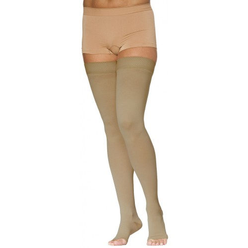 Sigvaris 970 Access Series Unisex Thigh High Compression Stockings - 972N OPEN TOE 20-30 mmHg