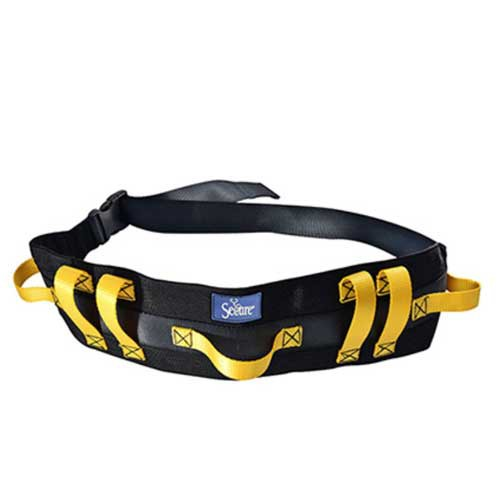 secure ultra wide transfer and walking gait belt with 7 caregiver handles d6d