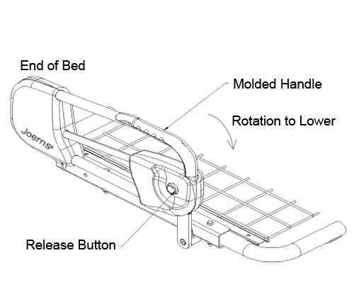 joerns hospital bed rails dbb