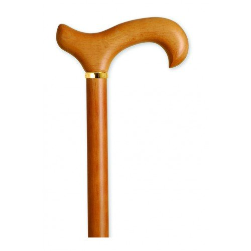Mountain Properties Natural Wood Cane with Derby Handle