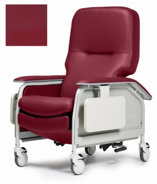 lumex deluxe clinical care geri chair recliner with tray a6f
