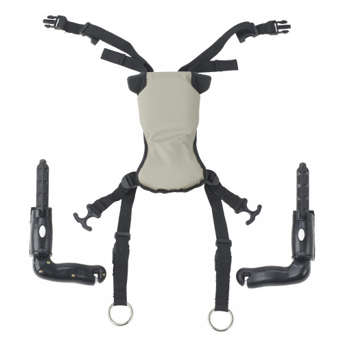Hip Positioner and Pad for Trekker Gait Trainer