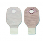 New Image 2-Piece Drainable Pouch with Clamp Closure - Transparent, Beige, Ultra-Clear