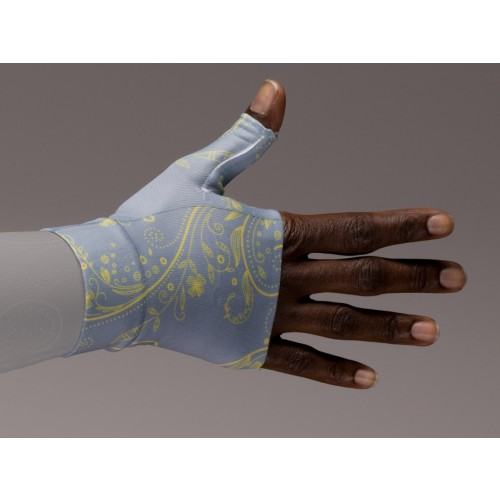 LympheDivas Firefly Gray and Gold Compression Gauntlet 20-30 mmHg