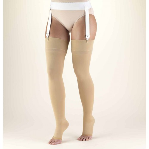TRUFORM Classic Medical Thigh High Support Stockings OPEN TOE 30-40 mmHg
