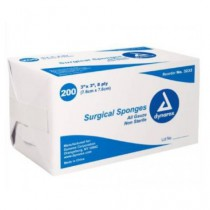 Dynarex 3 x 3 Inch Surgical Gauze Sponges 8 Ply, Box of 200