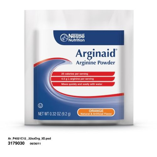 ARGINAID Arginine Powder Nutrition for Burns or Chronic Wounds Orange - 9.2 gm