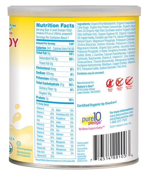 Pediasmart Organic Nutrition Beverage 88101m 88103m