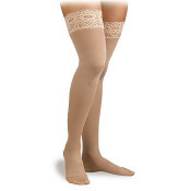 Activa Soft Fit Graduated Therapy Thigh High Lace Top Compression Socks 20-30 mmHg