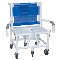 MJM PVC Bariatric Shower Chair with Dual Drop Arm
