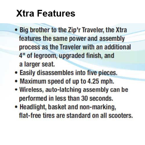 zipr xtra hybrid 3 wheel travel mobility scooter 193