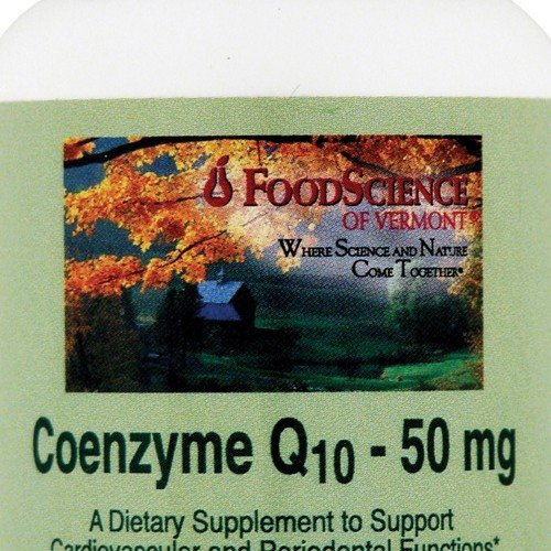 FoodScience of Vermont Coenzyme Q10 50 mg Dietary Supplement