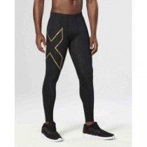 MCS Thermal Compression Tights, Black/Gold