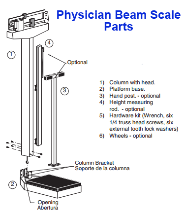 Detecto 439 Physician Beam Scale