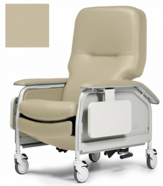 lumex deluxe clinical care geri chair recliner with tray 038