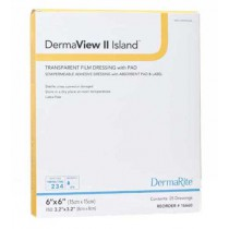 DermaView II Island Transparent Film Dressing with Pad