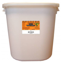 8 Gallon White Medi-Pak Sharps Disposal Container with Horizontal Entry Lid 101-9751