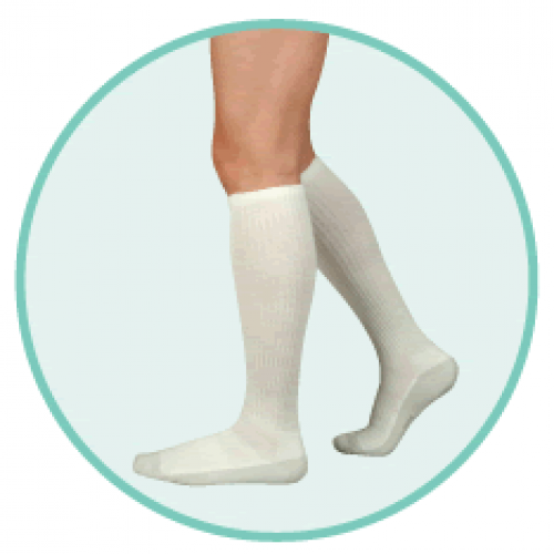 a256f9b79cc Juzo 5760 OTC Silver Sole Unisex Knee High Compression Socks 12-16mmHg FREE  S H 5760AD10 XL