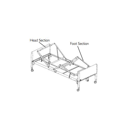 semi electric hospital bed 5310ivc bundle 96b