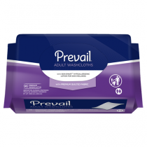 Prevail Quilted Washcloths with Lotion Softpack 96 Count