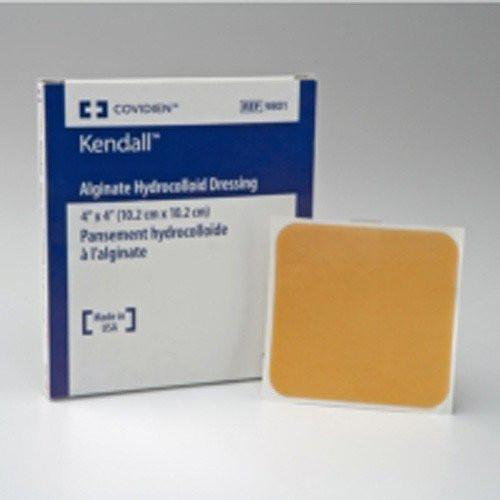 Kendall  4 x 4 Inch Alginate Hydrocolloid Dressing - 9801