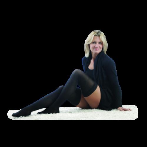 LEGLINE Sheer Compression Stockings Thigh High CLOSED TOE 15-20 mmHg
