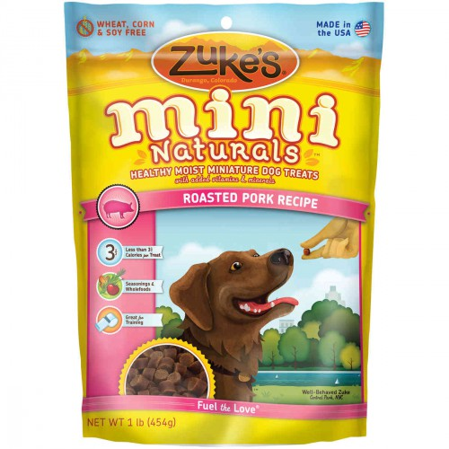Mini Naturals Moist Miniature Treat for Dogs Roasted Pork