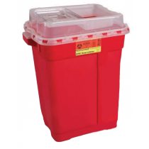 9 Gallon Red BD Sharps Container with Clear Slide Top 305616
