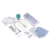 Intermittent Catheter Tray with 14 French Red Rubber Catheter