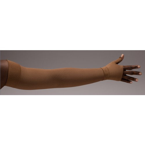 LympheDivas Mocha Compression Arm Sleeve 20-30 mmHg w/ Diva Diamond Band