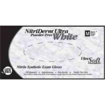 NitriDerm Ultra White Nitrile Exam Gloves Powder Free - NonSterile
