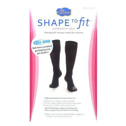 Black Nylon Therapeutic Trouser Socks 15-20 mmHg