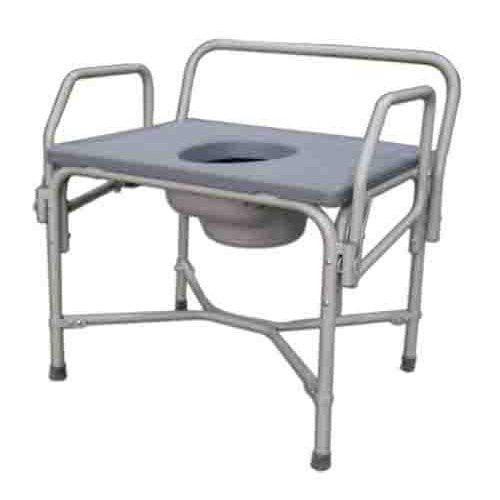 Medline Bariatric Drop-Arm Commode MDS89668XW