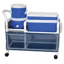 MJM PVC Ice Chest and Water Cooler Cart