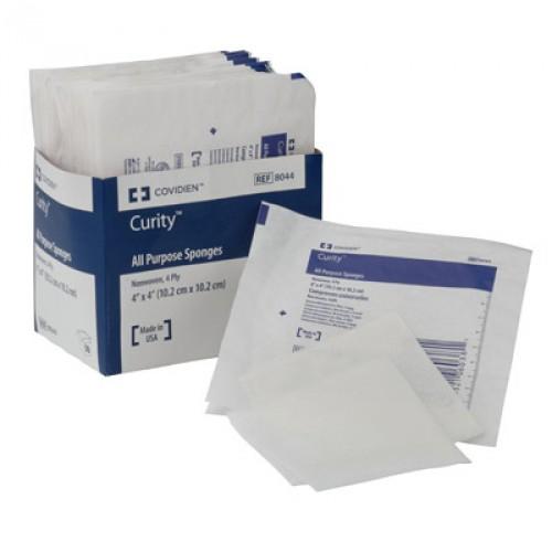 Covidien 8044 Curity 4 x 4 Inch All Purpose Sponge Gauze 4 Ply, Sterile