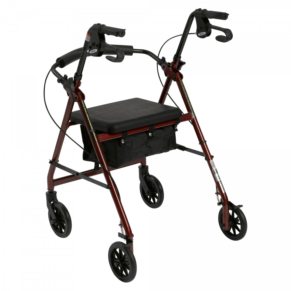 lightweight rollator with fold up and removable back support by drive 8af