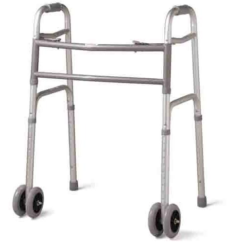"Guardian Bariatric Folding Walker with 5"" Wheels"