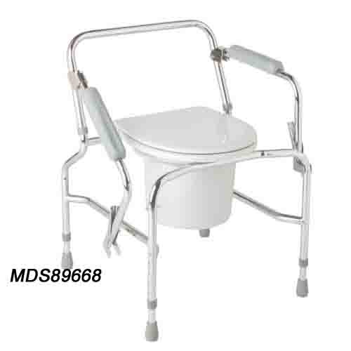 Medline Drop-Arm Commode - Steel